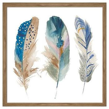 Feather Wall Art watercolor feathers wall art - products, bookmarks, design