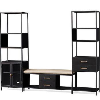Wilson 3 Piece Entryway Set  sc 1 st  Decorpad & Black Brown Entryway Storage Unit - Products bookmarks design ...