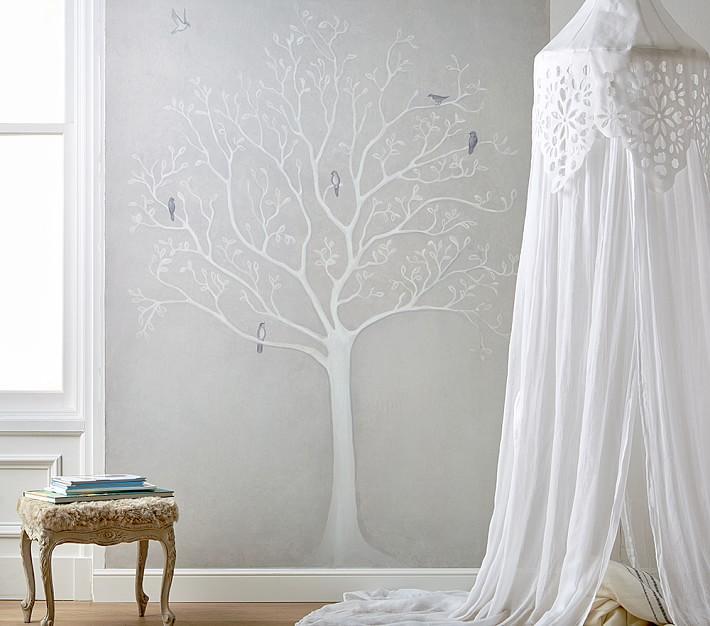 White Tree Peel Stick Wall Mural