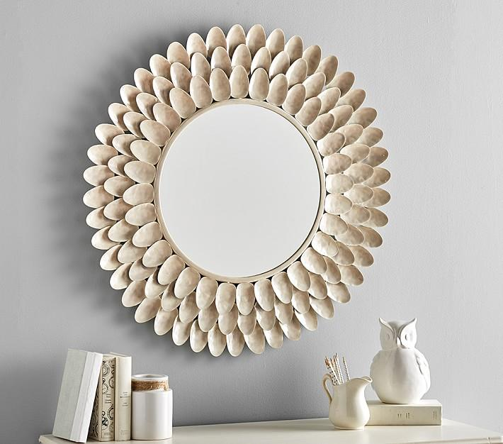 Ceramic Flower Petal Mirror
