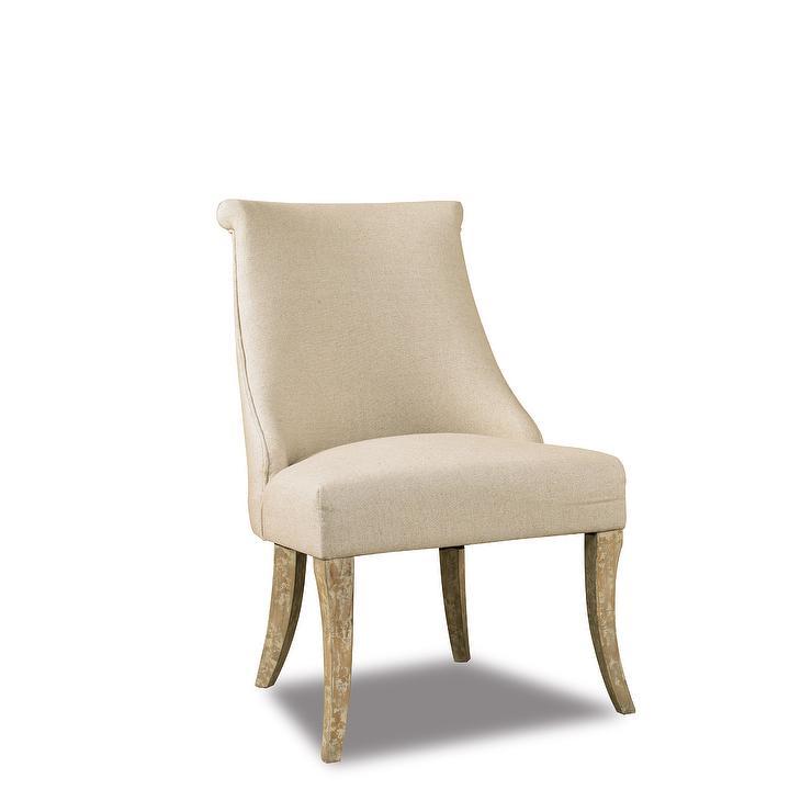 Jada Linen Armless Side Chair