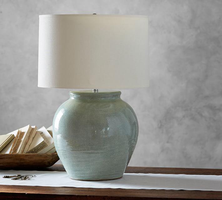 Marin Ceramic Celadon Jug Lamp Base