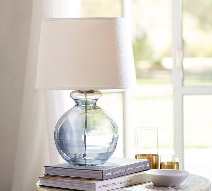 Linear blown glass table lamp west elm aubrey romantic jug lamp base aloadofball Image collections