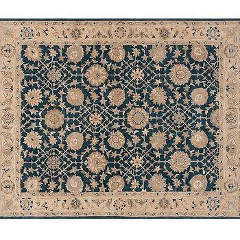 Madeline Blue Biege Floral Persian Rug