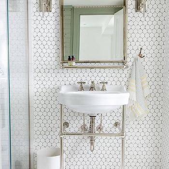 Subway Tile Bathroom Baseboards Design Ideas