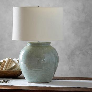 Exceptionnel Marin Ceramic Celadon Jug Lamp Base
