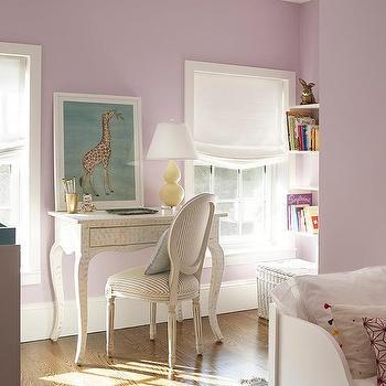 Lilac Kid Room With Cream Bone Inlay Desk