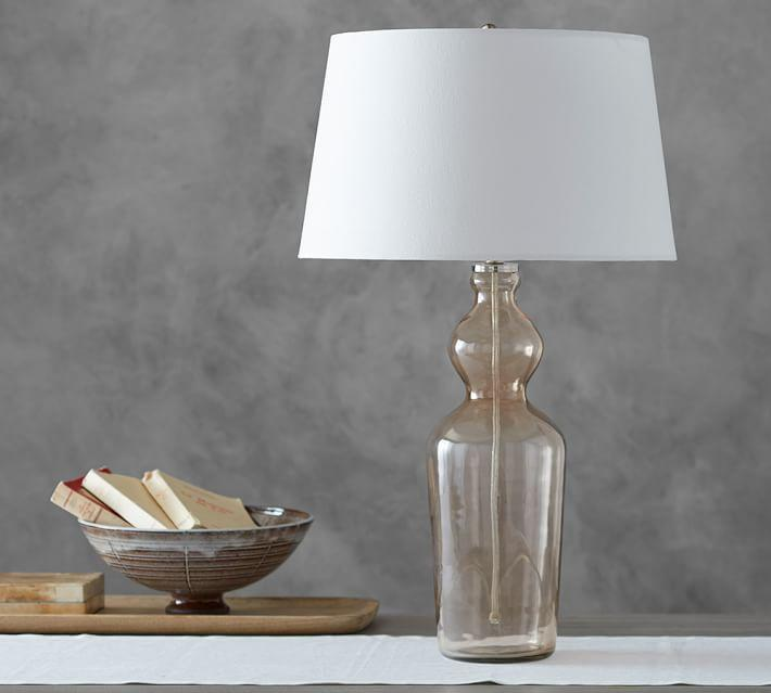 Oversized Plum Glass Jar Table Lamp