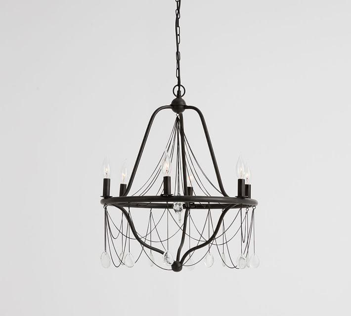 Anadora hanging crystal chains chandelier aloadofball Choice Image