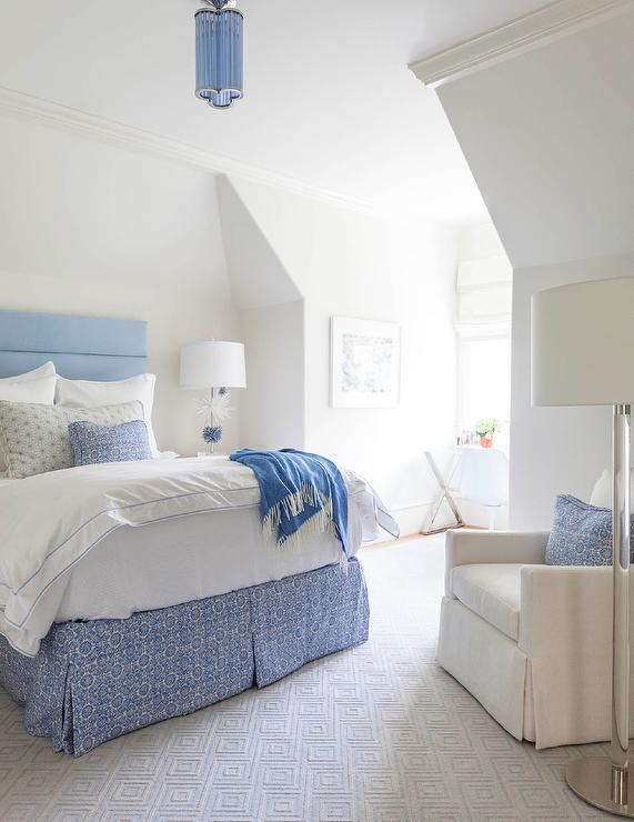 Bedroom Accent Chair Under Sloped Ceiling - Transitional - Bedroom