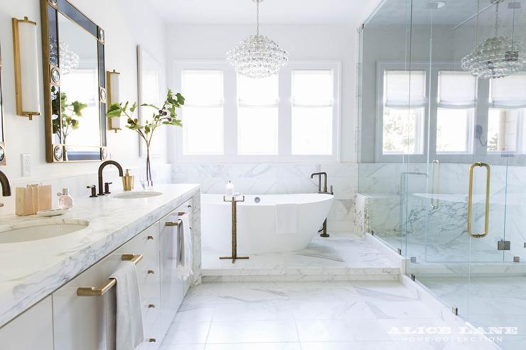 Step Up To Bathtub Transitional Bathroom