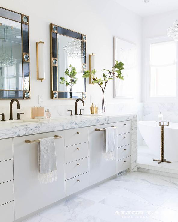 Marble Waterfall Bath Vanity Countertop