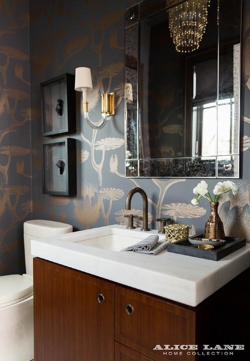 Side Lights For Vanity Mirror : Wood Veneer Vanity - Contemporary - bathroom - Tracy Hardenburg Designs