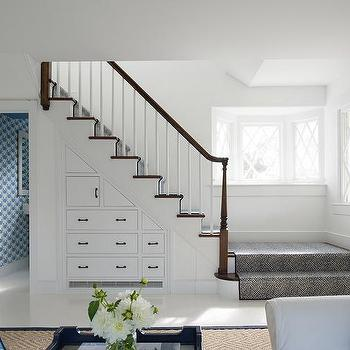 Cabinets And Drawers Under Staircase