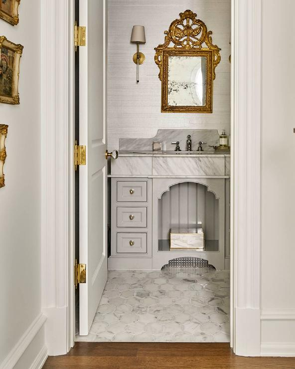 Gold And Gray French Style Bathroom French Bathroom