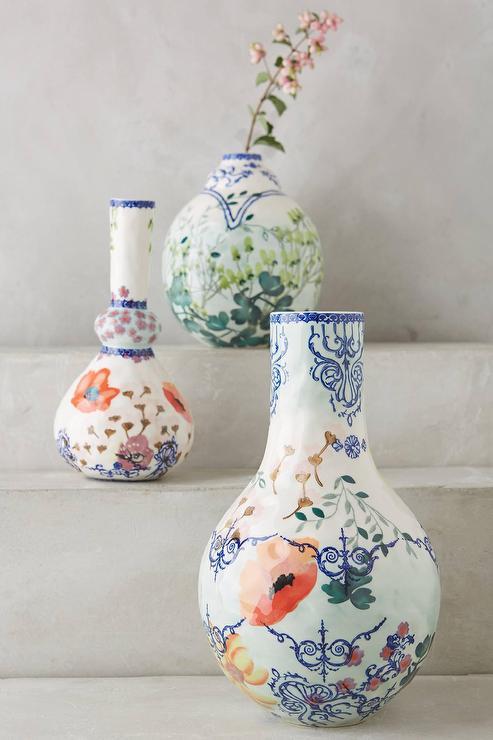 Pembroke Hand Painted Floral Vase