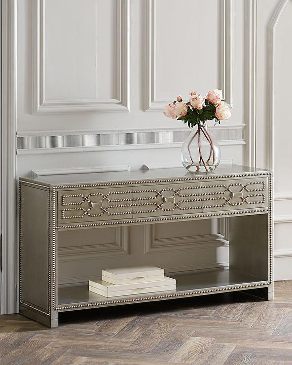 Faith Nailhead Trim Console Table