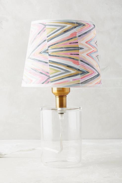 Eva Colored Glass Table Lamp Pottery Barn