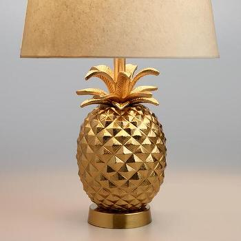 Couture golden pineapple table lamp look for less view full size aloadofball Choice Image