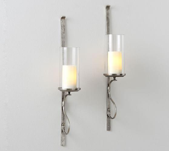 Artisanal Silver Wall Mount Candleholder Sconce