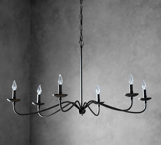 Lucca Black Iron Chandelier