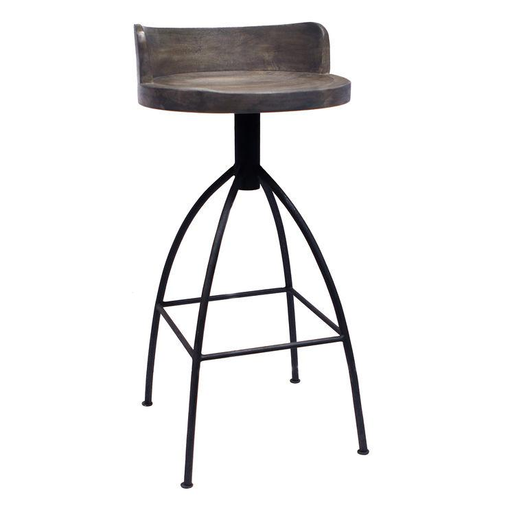 stools gun metal bar wood and co divvyapp stool canada