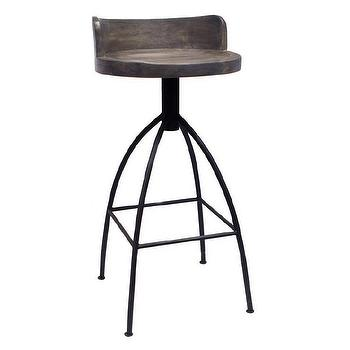 Constance Silver Metal Bar Stool