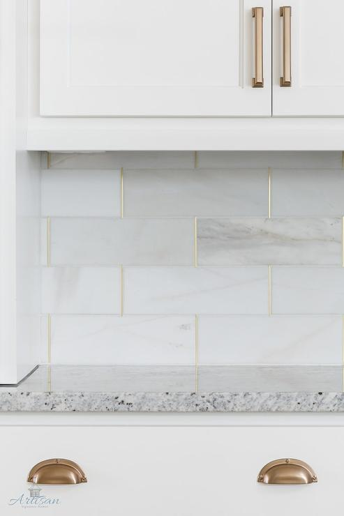 exceptional White Schluter Trim Part - 15: Honed White Tiles with Gold Trim