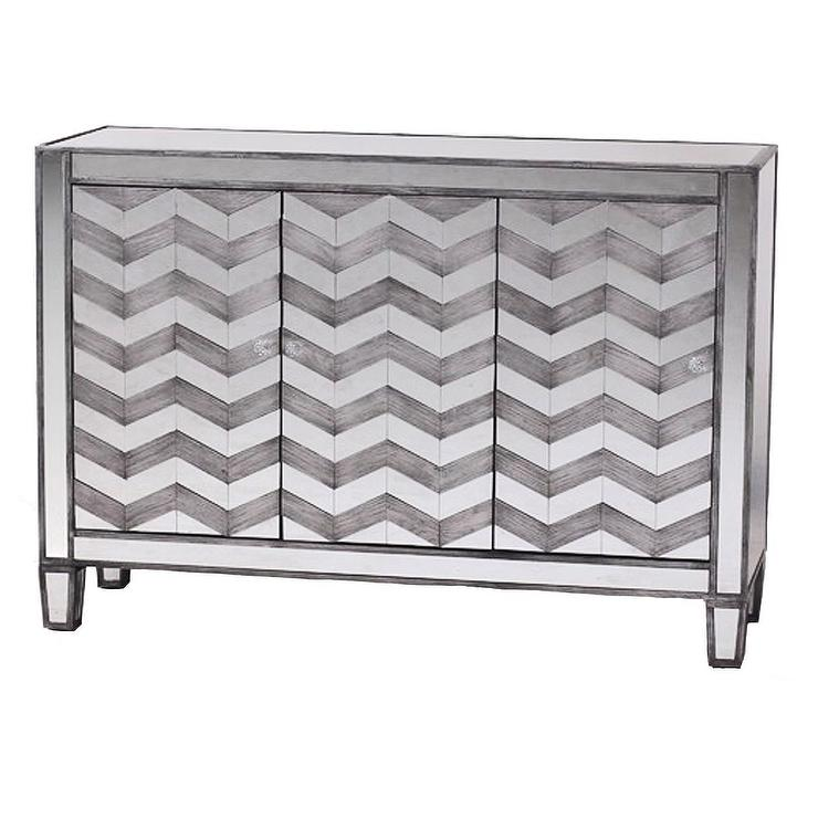 Libby Black And Silver Mirrored Console