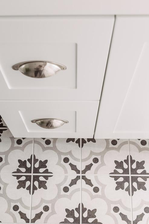White and gray cement tiles design ideas for White cement tiles