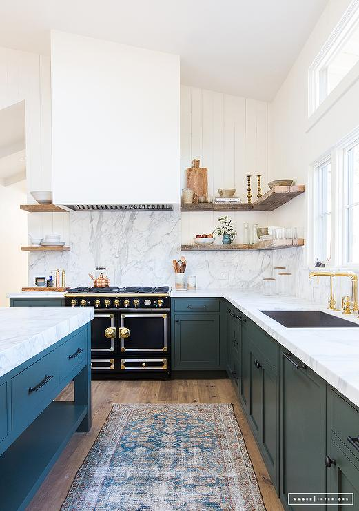 Beautiful Hunter Green KItchen Cabinets