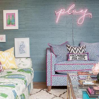 Contemporary Colorful Living Room Design