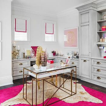 Hot Pink Home Office Vases Design Ideas