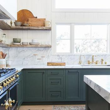 hunter green kitchen - Green Kitchen Cabinets