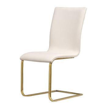 Rochefort White Gold Side Chair