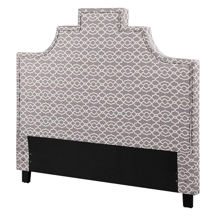 White Lace Pattern Headboard