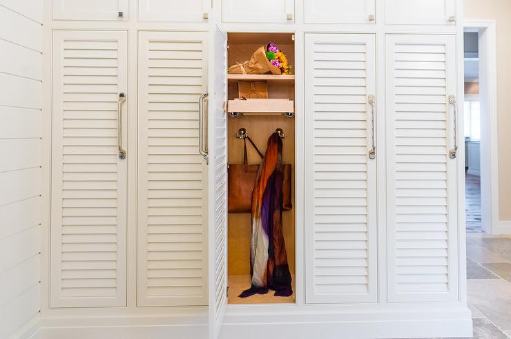 Mudroom Lockers with Pull Out Shelves - Transitional - Laundry Room