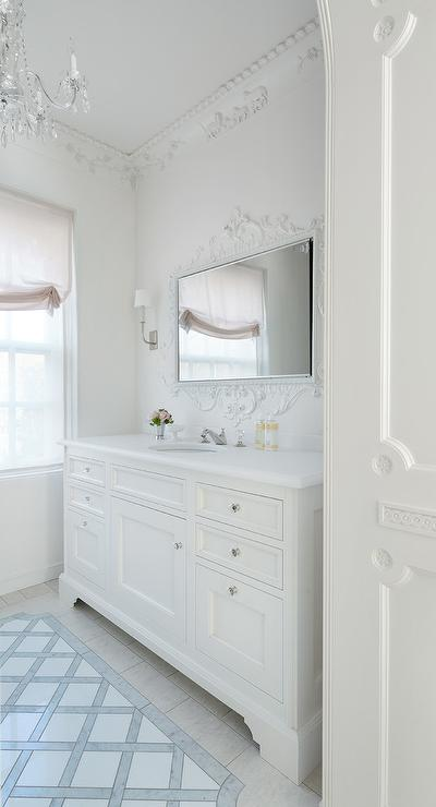 White Baroque Bathroom Transitional Bathroom