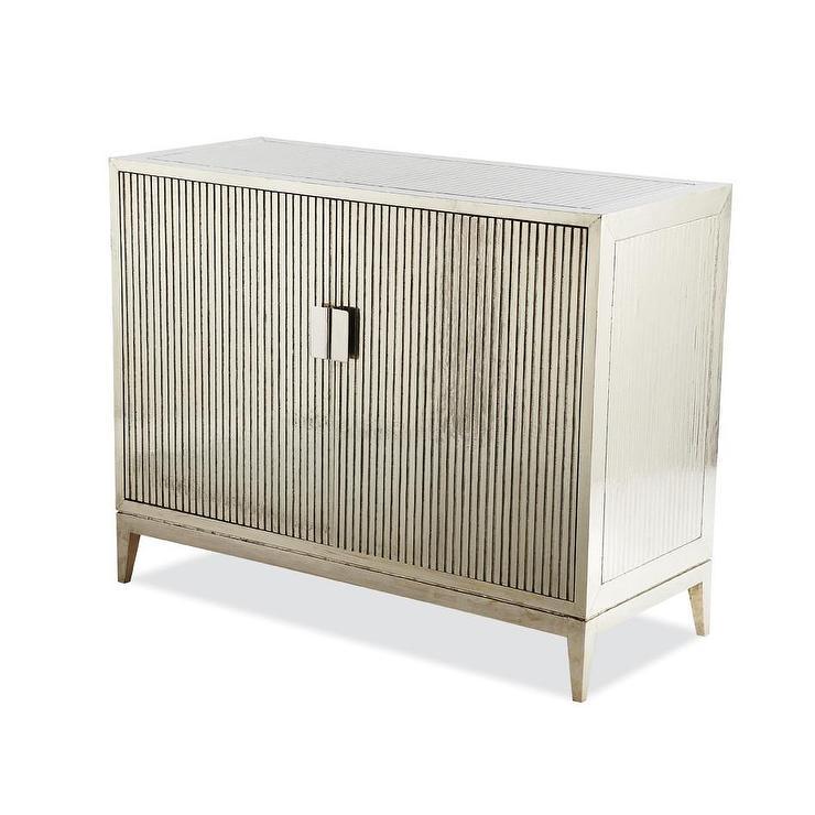 German 2 Door Silver Cabinet