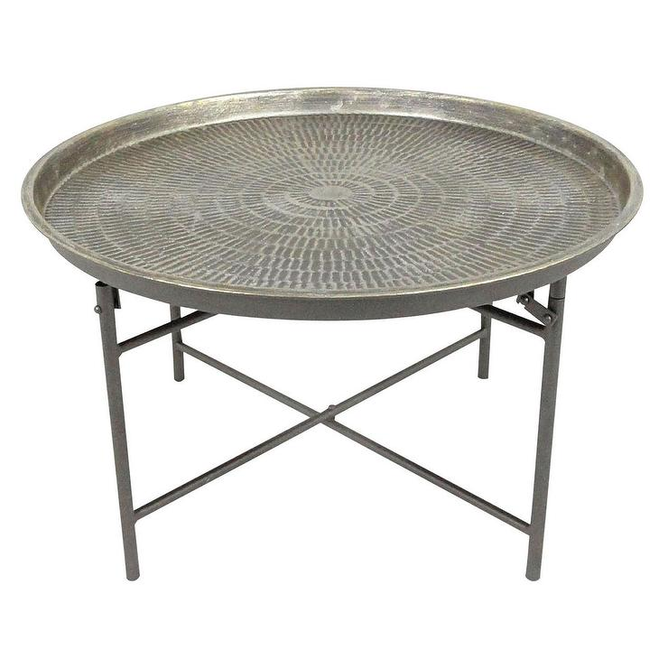round metal coffee table. Black Bedroom Furniture Sets. Home Design Ideas