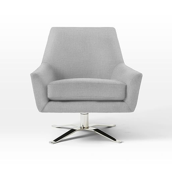 West Elm Lucas Swivel Base Chair View Full Size