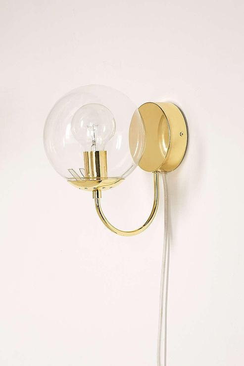 Juno Gold Globe Sconce