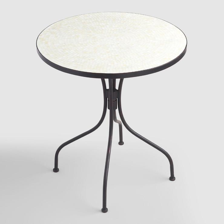 Ivory Round Cadiz Bistro Table