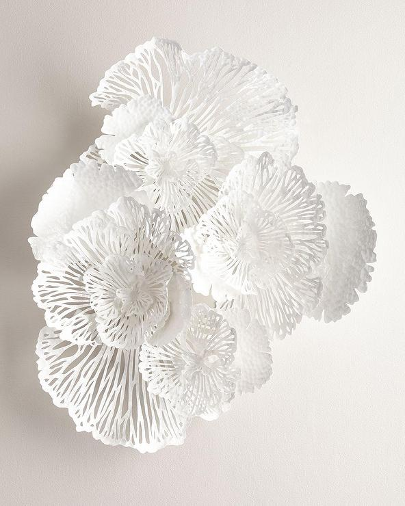 Large White Flower Wall Art