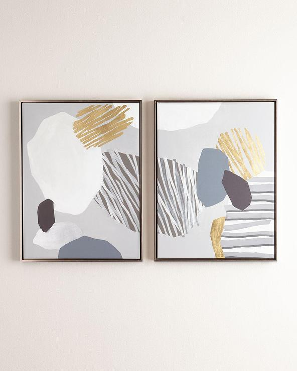 Set of two panel formulation giclees wall art