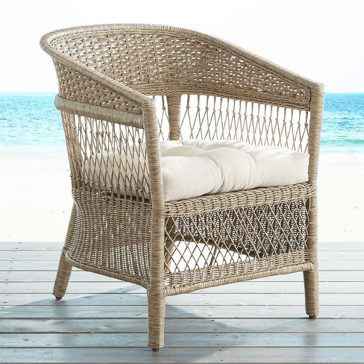 Everly Woven Wicker Armchair
