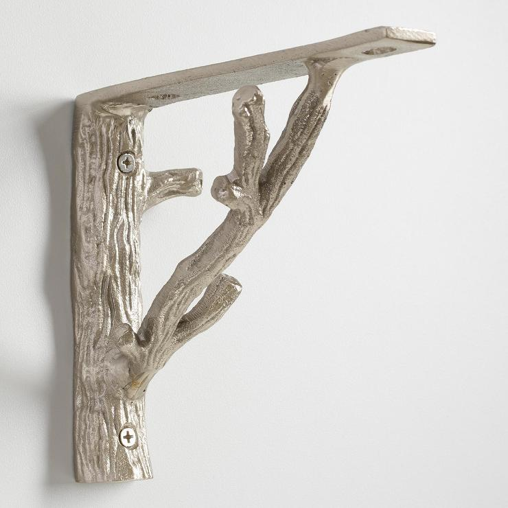 silver branch shelf brackets