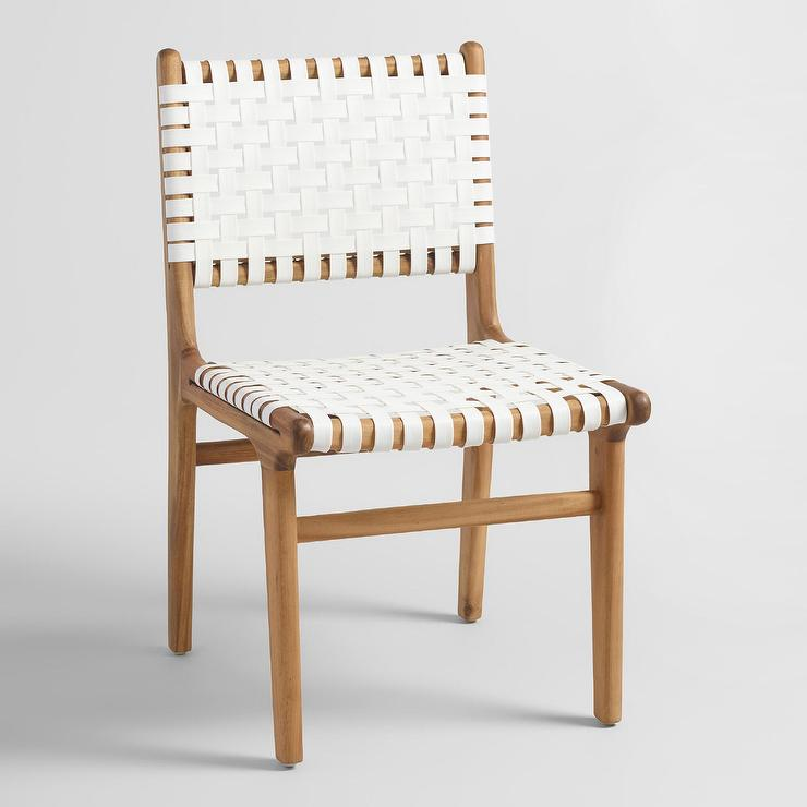 White Strap Girona Dining Chairs Set