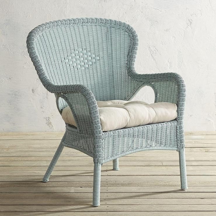 Charming Coco Cove Distressed Light Blue Armchair