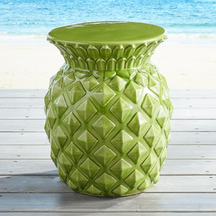 Green Pineapple Garden Stool